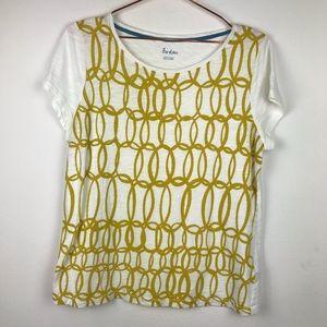 Boden Geometric Soft Tee Shirt Size Large